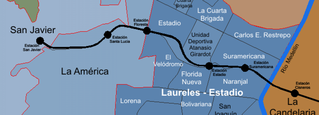Laureles map