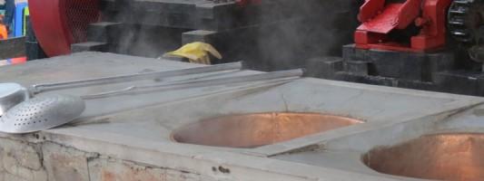 Evaporating Panela
