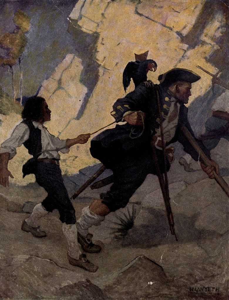 Pirates - at end - Long John